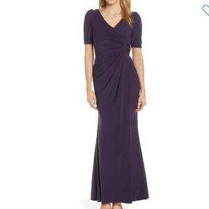 Adrianna Papell gorgeous eggplant dress